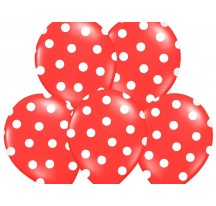 Puntíkovaný balónek červený