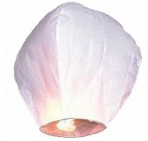 Létající lampion přání bílý