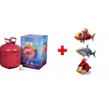 Helium na 30 balónků + AirSwimmers