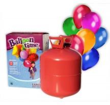 HÉLIUM V LÁHVI NA 50 BALÓNKU + 50 barevných balónků