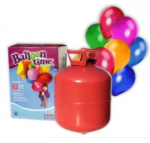 Helium na 30 balónků + 30 barevných balónků